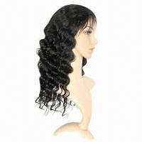 China Fashionable Full Swiss Lace Wig, Deep Body Wave in 1b# Color, Various Colors/Styles are Available on sale