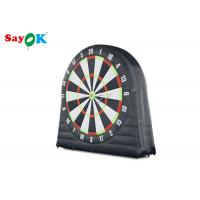 China Black Inflatable Football Dart Board With 6pcs Inflatable Balls For Sports Game on sale
