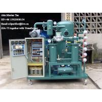 Quality ZJA Double-Stage Vacuum Transformer Oil Purification &Insulation Oil Treatment Equipment for sale