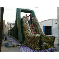 China Inflatable Military Zip Line Ride Sport For Children Entertainment Games on sale