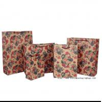 Quality Die Cut Shopping Wrapping Paper Bag Recyclable Customized Logo Offset Printing for sale