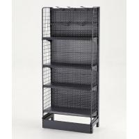 Quality Quick Access Black Pegboard Supermarket Display Racks Four Layers for sale
