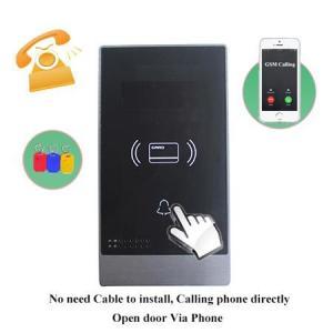 Quality Touch or Keypad GSM wireless villa audio door phone Swipe card unlock door for sale