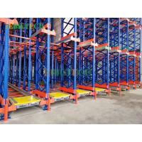 Quality Automatic Warehouse Radio Shuttle Pallet Rack Fifo Racking System 50kg Capacity for sale