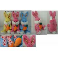 China 14'' Easter Happy Bunny With Carrot on sale