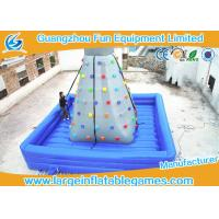 Buy cheap Air Blowing Inflatable Rock Wall Indoor Climbing Wall Bouncer / Jumper With Fire Retardant Material from wholesalers