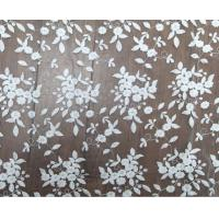 Quality 125cm Polyester White Embroidered Mesh Lace Fabric For Wedding Dress Wholesale for sale