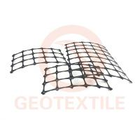 Quality Road Construction Geogrid Fabric For Retaining Walls , Anti UV Retaining Wall Grid for sale