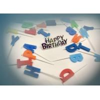 Quality Letter Shape Birthday Party Cake Candles With 5 Random Colors SGS & ISO9001 for sale