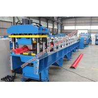 Quality Corrugated Colored / Plained Aluminium Ridge Cap Roll Forming Machine with Automatic Rolling Equipment for sale