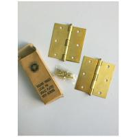 Quality Square Type 4 Inch Solid Brass Door Hinges Bb Print Loose Pin Easy Installation for sale