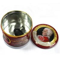 Quality Round Musical Food Metal Container for sale