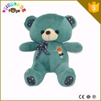 Quality Customized OEM 15cm Small Bear Stuffed Plush Toy With Red T-Shirt Cloth for sale