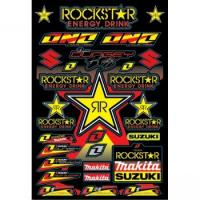 Best Rock star graphic Motorcycle sticker sheet wholesale