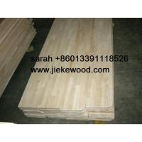Quality rubbruwood  solid wood stair treads for sale