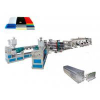 Best High Efficiency Plastic Sheet Extrusion Line For PVC Hollow Sheet wholesale