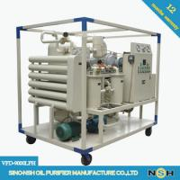 Quality CE Portable Vacuum Decolorizaation Transformer Oil Purifier Machine Remove Water And Impurities for sale