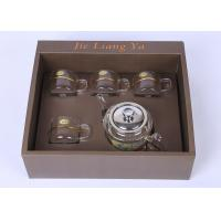 Quality High Grade Glass Tea Infuser Teapot With Warmer And 4 Cups 21oz / 600ml Pot Capacity for sale