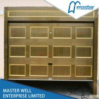 Quality Fold Design Sectional Overhead Garage Door Wooden Color Of Galvanized Steel for sale