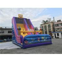 China Commercial Kids Inflatable Slide , Custom Inflatable Cartoon Dry Slide For Party on sale