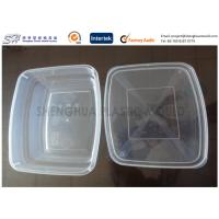 Quality 650ml Large Packaging Plastic Food Containers kitchen , PP disposable box for sale