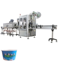Quality automatic shrink sleeve label machine with paper cups plastic cup coffee cup automatic tubs shrink sleeve labeling machi for sale