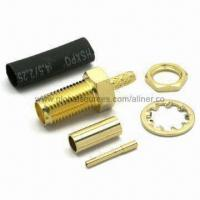 Quality SMA Straight Jack RF Coaxial Connector for RG-174U/316U Cable, 50 Ohms for sale