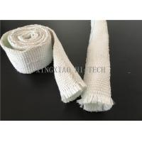 Quality Expandable Fiberglass Braided Heat Insulation Sleeve / Sleeving High Intensity for sale