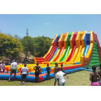 China Commercial Giant Inflatable Slide With 6 Lanes For Children CE UL SGS on sale
