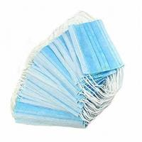Quality Blue Disposable Medical Face Mask , Non woven Protective Face Masks Latex Free for sale