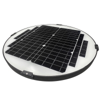 Quality 30W 2050lm 150lm/w 12V30Ah Outdoor Solar Garden Lights for sale