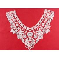 Quality OEM Floral Guipure Lace Collar Applique With Heavy Embroidery By OEKO TEX 100 for sale