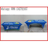 Quality Promotional Outside Tension Fabric Displays , Washable Trade Show Table Covers for sale