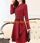 Quality harley biker woman chiffon dress,brand lady silk dress for sale