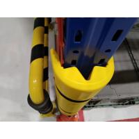 Quality Storage Yellow Steel Column Protectors  Plastic  Fit Around The Frame Legs for sale