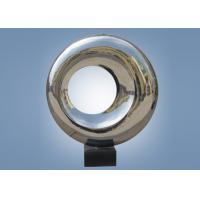 Quality Outdoor Indoor Mirror Stainless Steel Sculpture Doughnut Shape WS-ST048 for sale