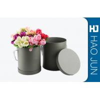 Quality Fancy Round Cardboard Boxes With Lids / Flower Bouquet Boxes Color Customized for sale