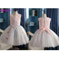 China Gorgeous Cotton Kids Flower Girl Dresses / Baby Smocked Luxury Flower Girl Dresses on sale