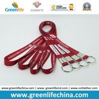 Quality Fashion Design Eco-friendly Logo Flat Lanyard with Split Key Ring Factory Directly Cheap Price for sale