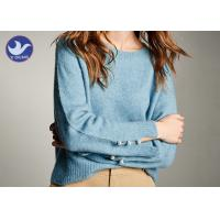 Buy cheap Social Audit Sweater Supplier Womens Knit Pullover Sweater Cuff Slit Pearl from wholesalers