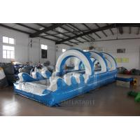 Quality Double Lane Slip And Slide With Pool for sale