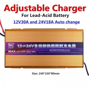 Quality Adjustable 18A Lead Acid Intelligent Automatic Battery Charger for sale