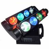 Quality Eight Eyes Mini Spider Led Moving Head Light 12W RGBW Stage Sharpy Light led bar light DJ Bean color for sale