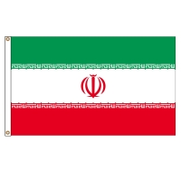 Quality Iran Knit Polyester 110g Asian Countries Flags CMYK Printing 3x5ft for sale