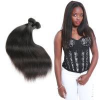 China Real 3 Bundles Of Straight Virgin Hair Weave / Straight Human Hair Extensions on sale