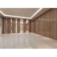 Quality 3D Finish Acoustic Aluminum Frame100MM Thickness Movable Partition Wall for sale