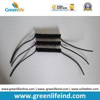 Quality Semi-finished Black Spring Spiral Coil Cables Custom 40MM Length 50MM Lines on Ends for sale