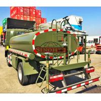Quality 1000 - 1200 Gallons Army Water Truck , 4x2 / 4x4 Drive Type Water Sprinkler Truck for sale