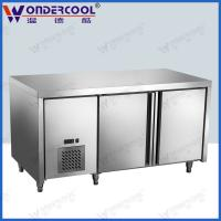 Quality 1.5m 201/304stainless steel kitchen commercial under counter freezer fridge refrigerator for sale