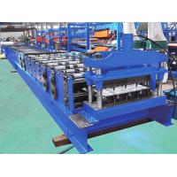 Quality 760 Cover Width Galvanized Dovetail Floor Decking Sheet Roll Forming Machine for sale